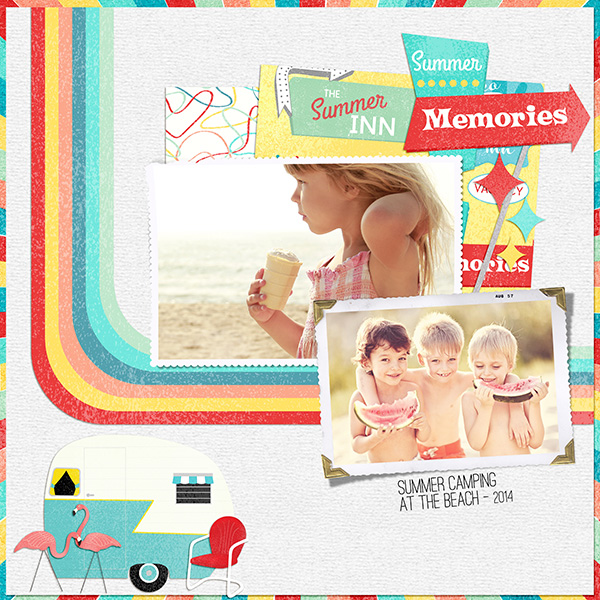 Summer Memories layout by Syndee