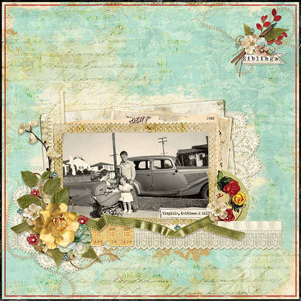 Digitial Scrapbooking Layout by April Martell