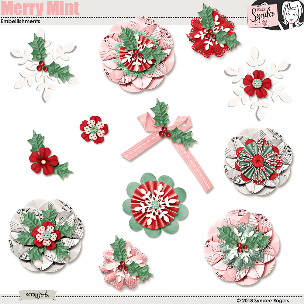 Merry Mint Embellishments