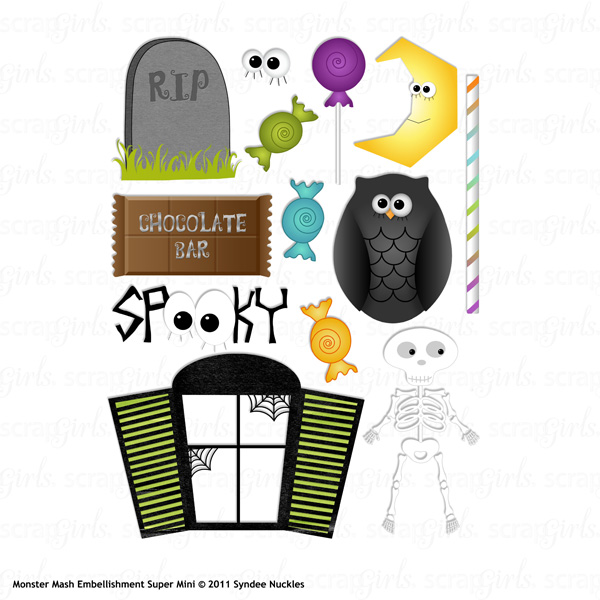 Monster Mash Embellishment Super Mini