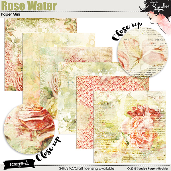 Rose Water digital papers