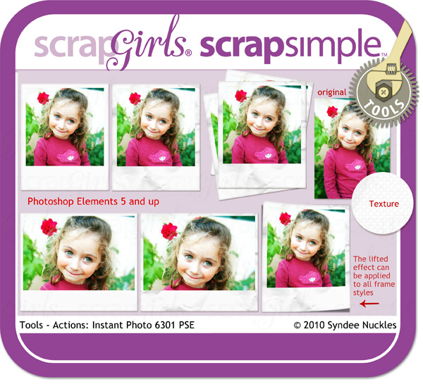 ScrapSimple Tools - Actions: Instant Photo 6301 PSE