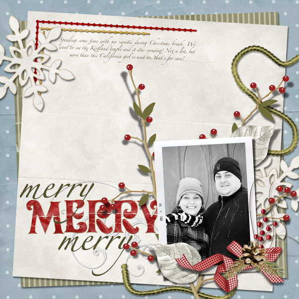Digital scrapbook layout by Laurel Lakey (See supply list below)