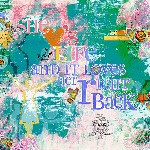 Art Journal layout by Andrea Hutton (Product list below)