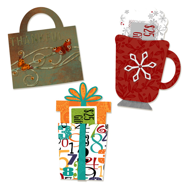 Scrapsimple craft templates holiday gift card holders for Christmas card holder craft project