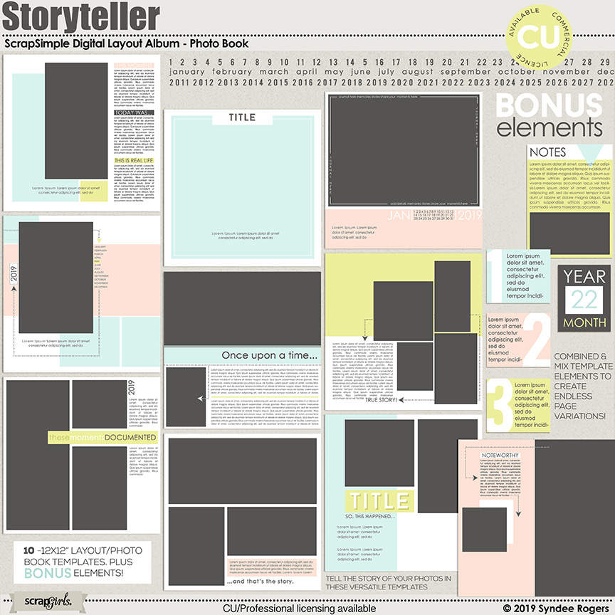 Storyteller Photo Book and Layout Templates