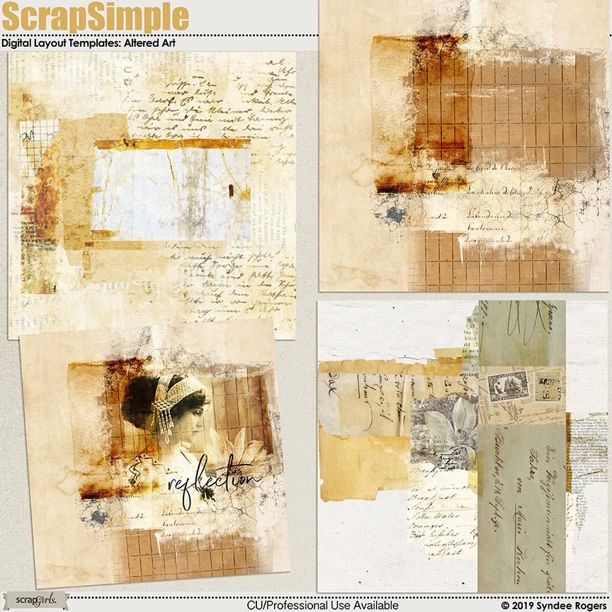 ScrapSimple Digital layout Templates: Altered Art
