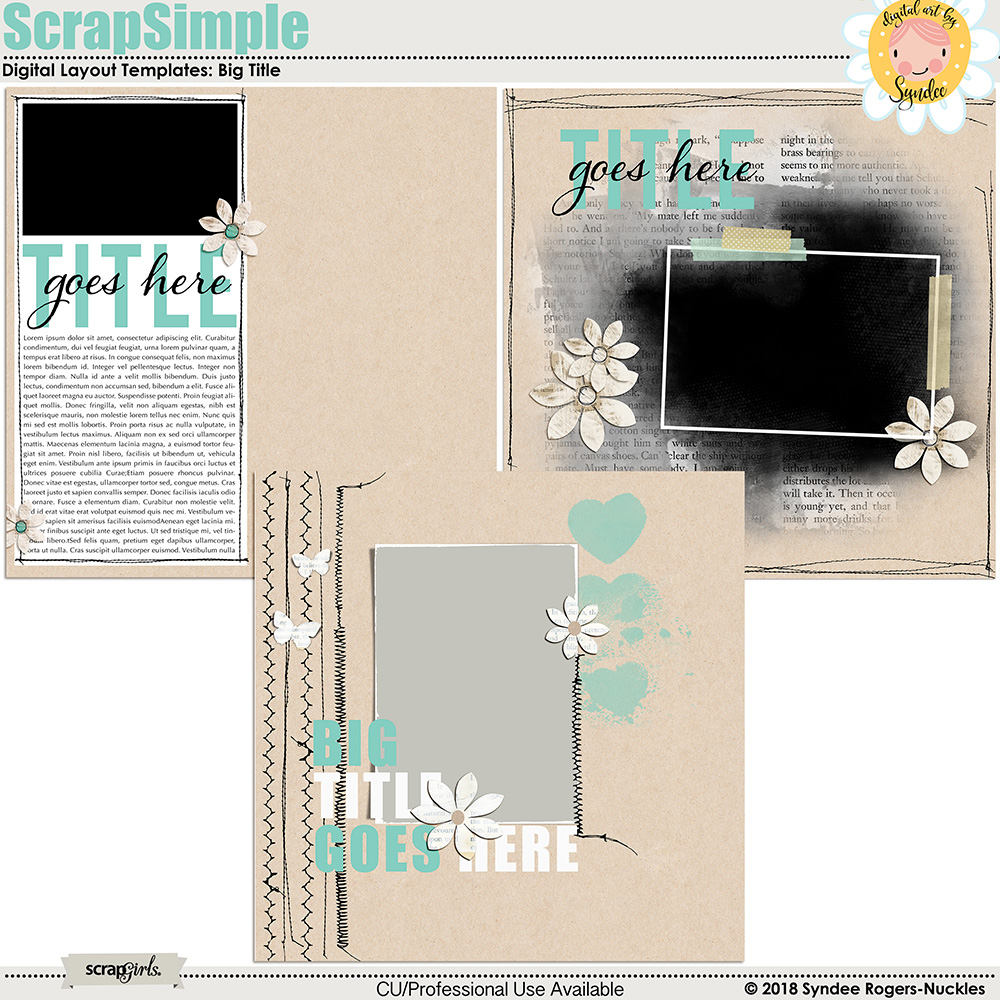 In Stitches Layout Templates