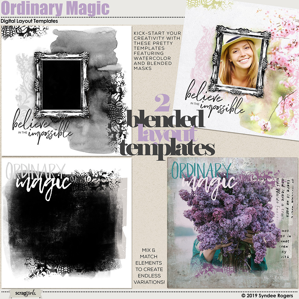 Ordinary Magic layout templates
