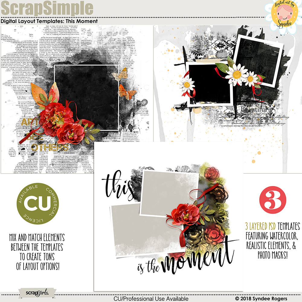 This Moment digital Layout Templates