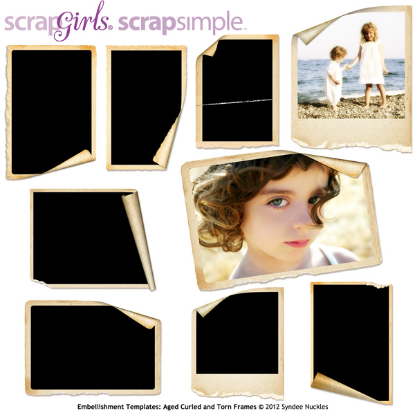 "<a href=""http://store.scrapgirls.com/product/25388/"">ScrapSimple Embellishment<br />Templates: Aged Curled<br />and Torn Frames</a>"