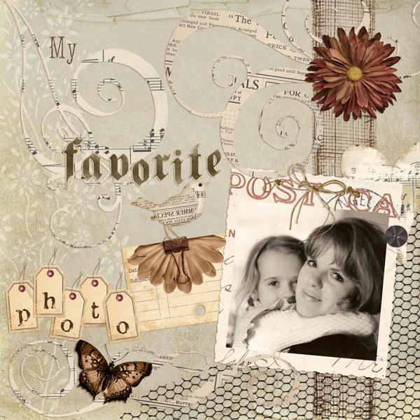 Layout by Syndee Nuckles using SS Emb Templates: Vintage Photo Frames, Collage Art Collection, Memoirs Paper SuperMini, Persian Breeze, Fit To Be Tied, Urban Love & Winter White Embellies, Bookworm & Affection Alphas, SS Emb Tmplts: Bits Of Mesh