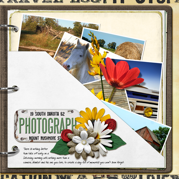Digitial Scrapbooking Layout by Angie Briggs