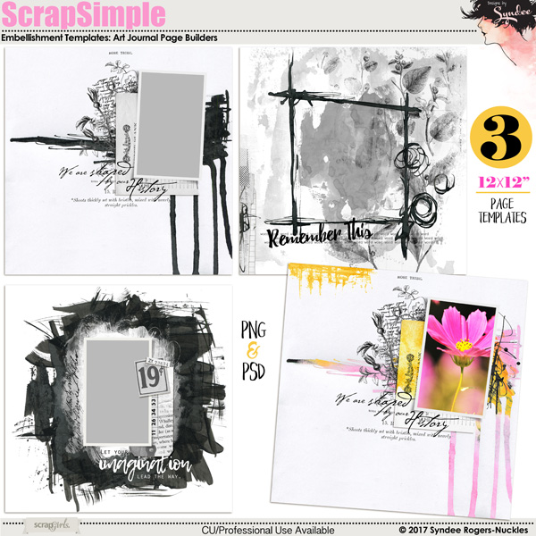ScrapSimple Embellishment Templates: Page Builders