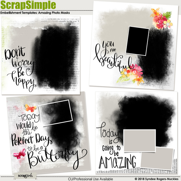 Amazing Photo Mask Embellishment Templates