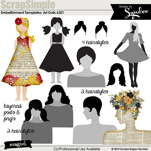 ScrapSimple Embellishment: Art Dolls 6301