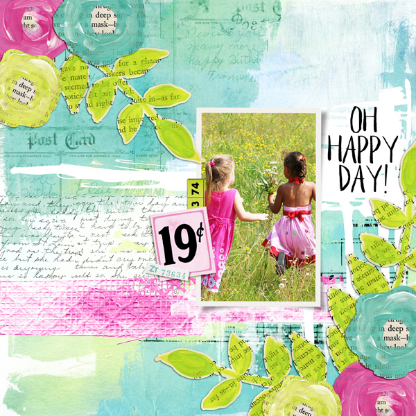 Layout using Art Journal Embellishment Templates