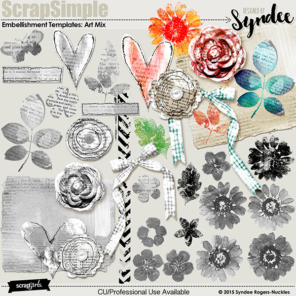 Art Mix Embellishment Templates