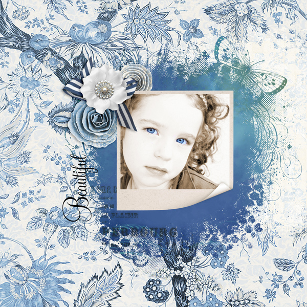 Digital scrapbook layout by<br />Syndee