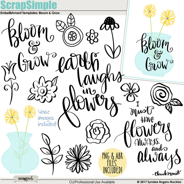Bloom and Grow quotes and images templates