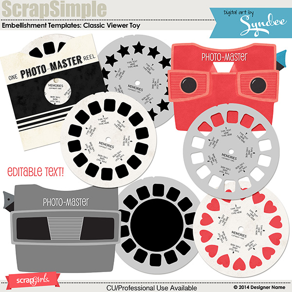 Embellishment Templates: Classic Viewer Toy