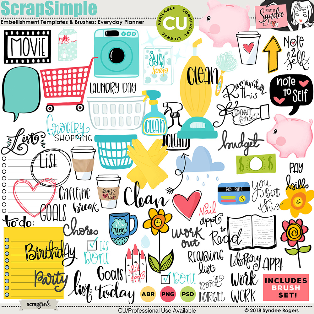 Everyday Planner Stickers embellishments