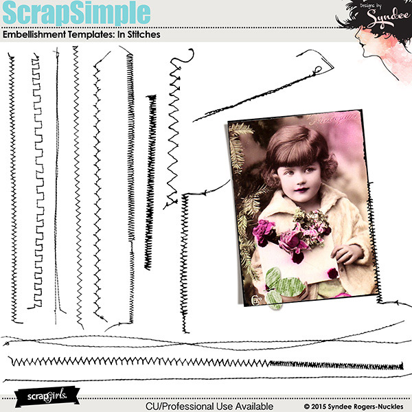 In Stitches embellishment templates