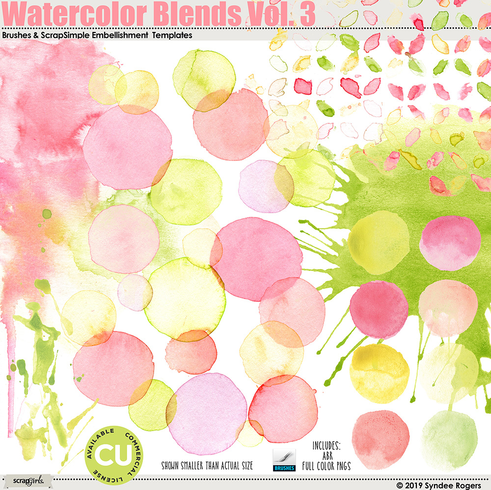 Watercolor Blends Vol. 3 Brushes and Templates