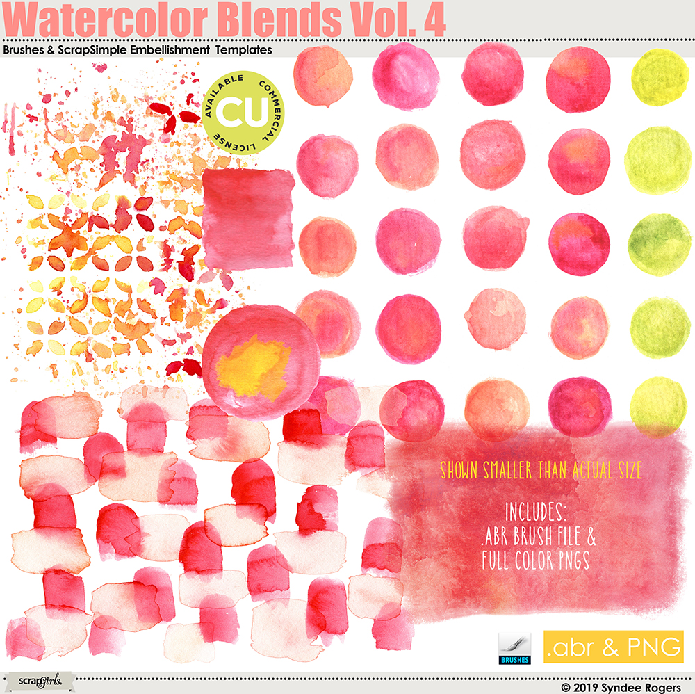 Watercolor Blends Brushes and Templates VOL. 4