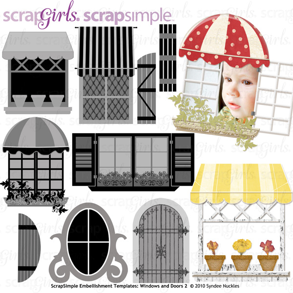 Also available: ScrapSimple Embellishment Templates: Windows and Doors 2