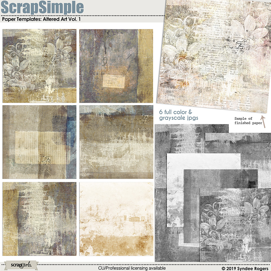 Altered Art Paper Templates Vol. 1