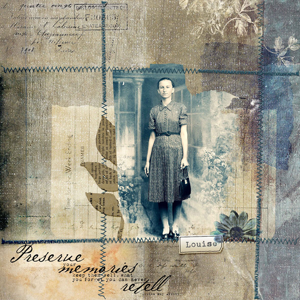 Scrapbook layout created using Altered Art Templates
