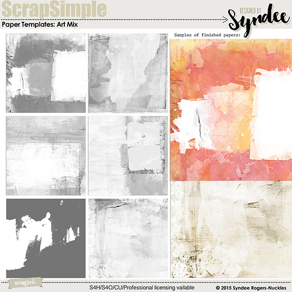 Art Mix paper templates