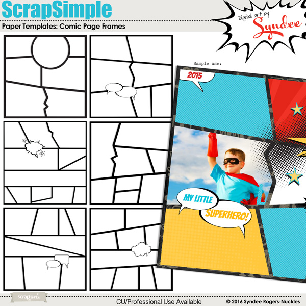 comic page frame templates