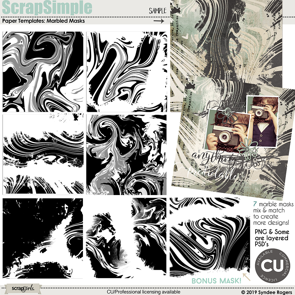 Marbled Masks overlay templates