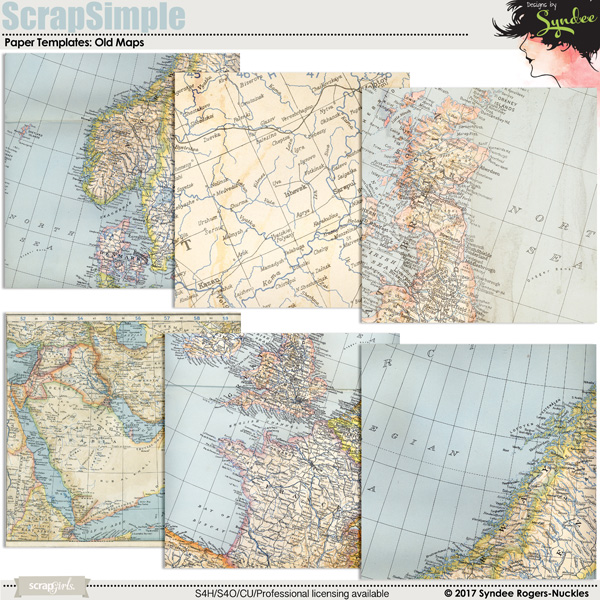 Old vintage maps designer resource textures