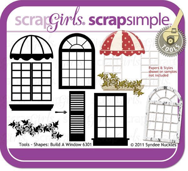 Also available: ScrapSimple Tools- Shapes: Build a Window 6301