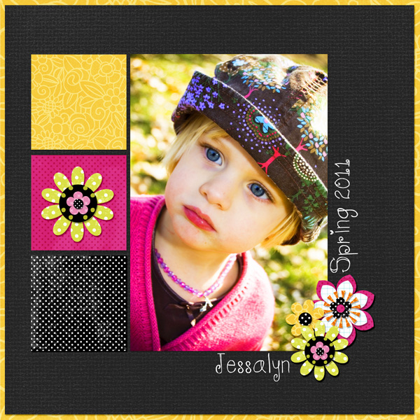 Digital scrapbook layout by Syndee
