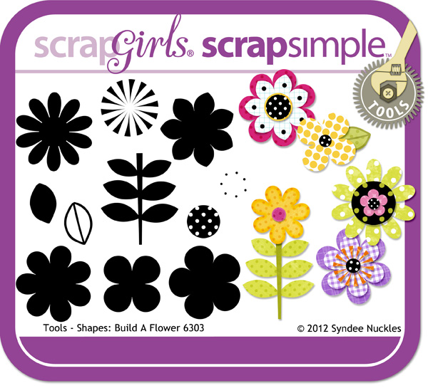 ScrapSimple Tools - Shapes: Build A Flower 6303