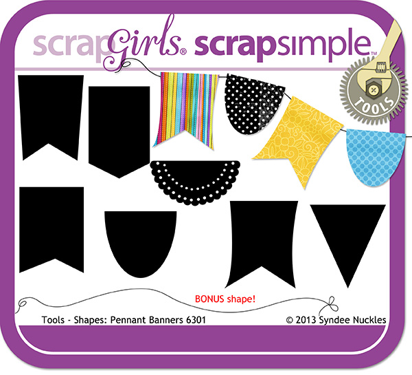 ScrapSimple Tools - Shapes: Pennant Banners 6301