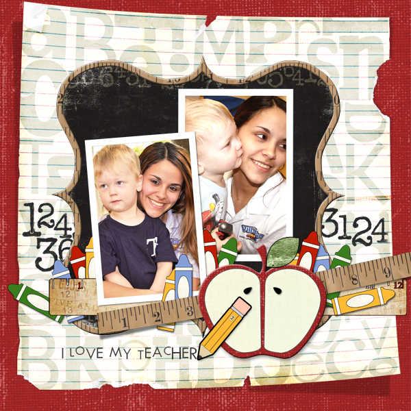 Digital scrapbook layout by Joyce Schardt (See supply list below)
