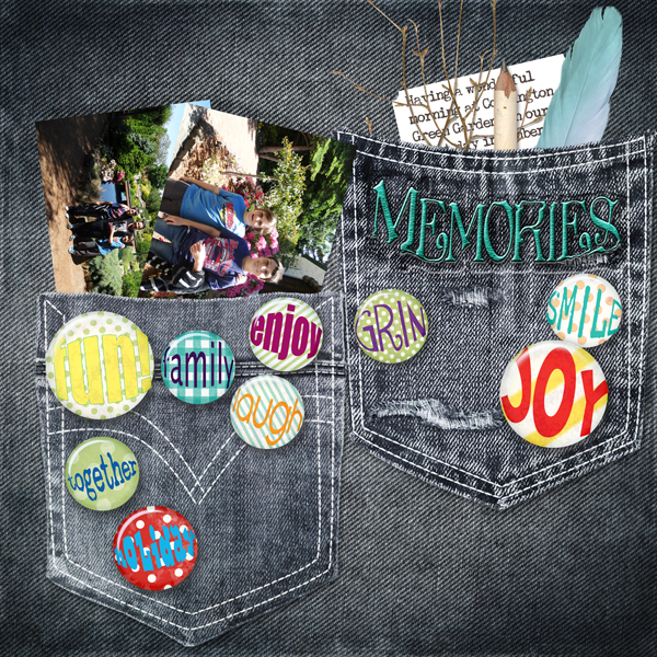 Memories Flair Layout by Jody West