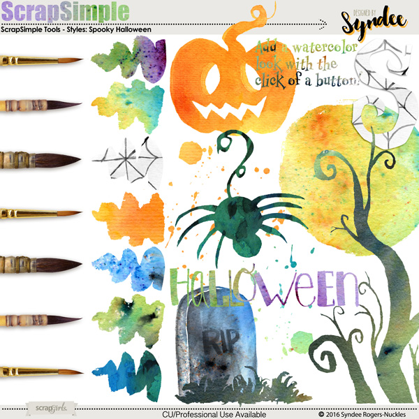 Halloween Watercolor Custom Styles