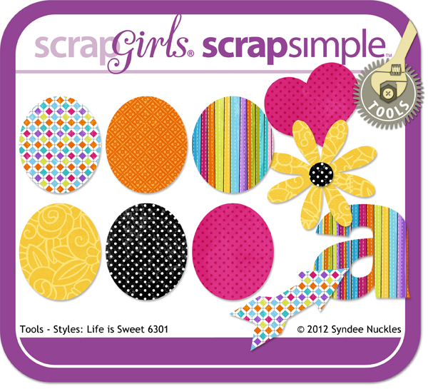 "<a href=""http://store.scrapgirls.com/product/18896/"">ScrapSimple Tools - Styles: Life Is Sweet 6301 </a><p></p>"