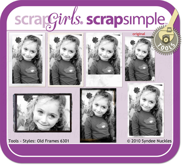 Also available: ScrapSimple Tools- Styles: Old Frames 6301