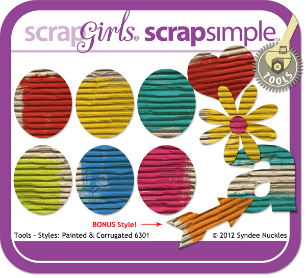 ScrapSimple Tools - Styles: Painted and Corrugated 6301