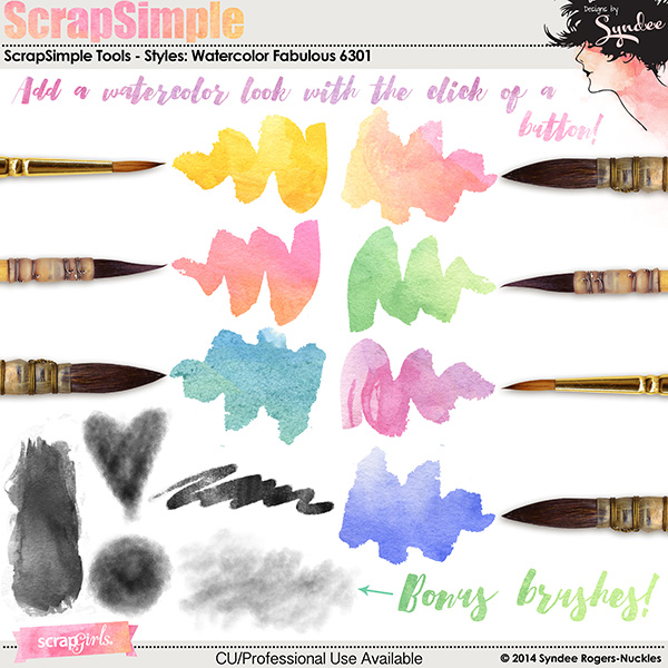 ScrapSimple custom styles: Watercolor Fabulous