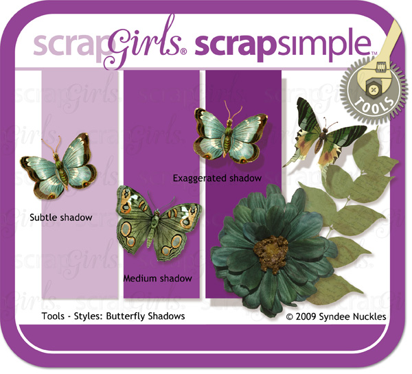 ScrapSimple Tools - Styles: Butterfly Shadows 6301 Mini