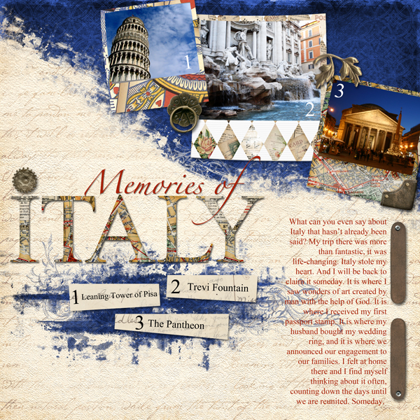 Layout by Laurel Lakey uses SS Tools - Styles: Collage 6301, Legacy Collection Biggie, SS Emb Templates: Instant Photo, Kingdom Alpha & Word Art Biggie, Journey Paper Biggie, Downtown Brush Set, & Persian Breeze Emb Biggie