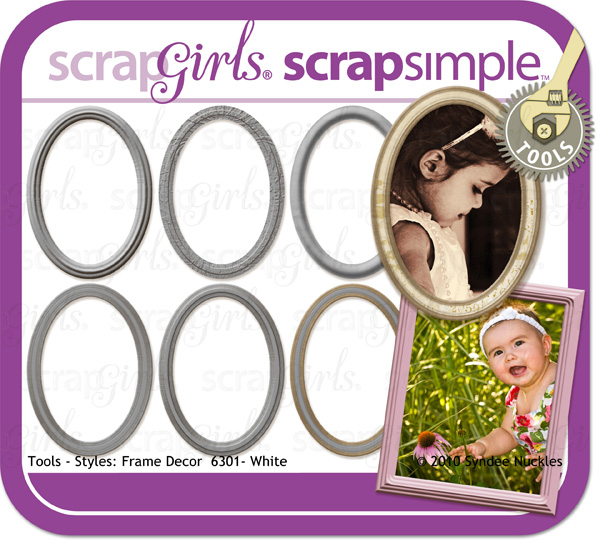 Coordinating Product: ScrapSimple Tools - Styles: Frame Decor 6301